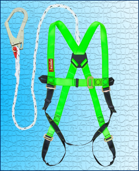 HARNESS WITH ROPE LANYARD