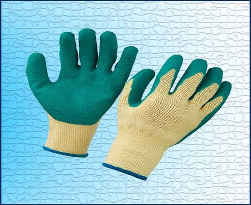 POLYSTER/COTTON GLOVE WITH LATEX COATING